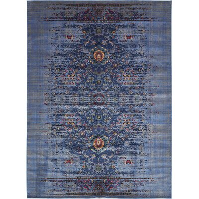 Florence Navy Blue/Gray Area Rug Rug Size: 5 x 8