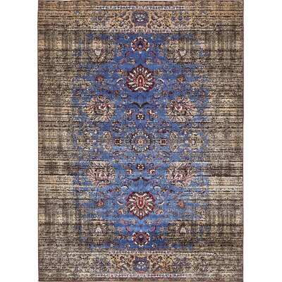 Florence Blue/Ivory Area Rug Rug Size: 5 x 8