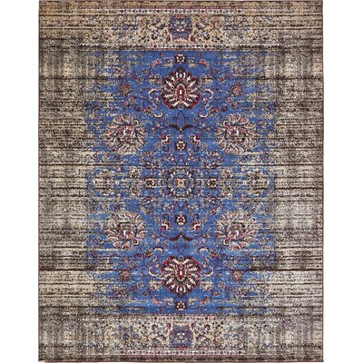Florence Blue/Ivory Area Rug Rug Size: 7 x 10