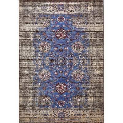Florence Blue/Ivory Area Rug Rug Size: 8 x 10