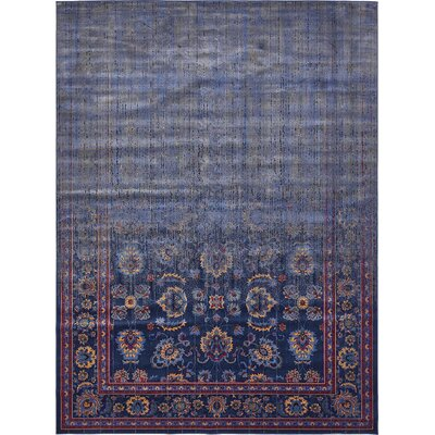 Florence Navy Blue/Gray Area Rug Rug Size: Rectangle 9 x 12