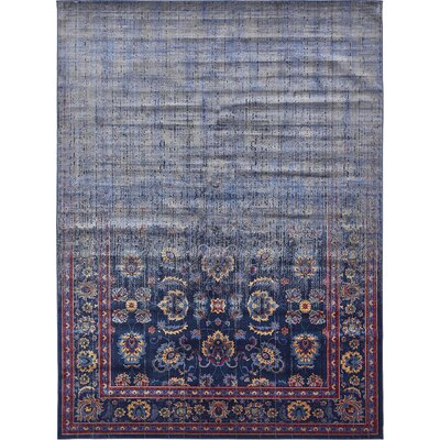 Florence Navy Blue/Gray Area Rug Rug Size: Rectangle 5 x 8