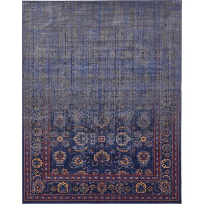 Florence Navy Blue/Gray Area Rug Rug Size: Rectangle 7 x 10