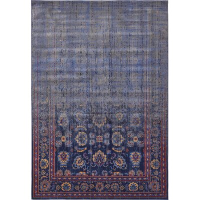Florence Navy Blue/Gray Area Rug Rug Size: Rectangle 8 x 10
