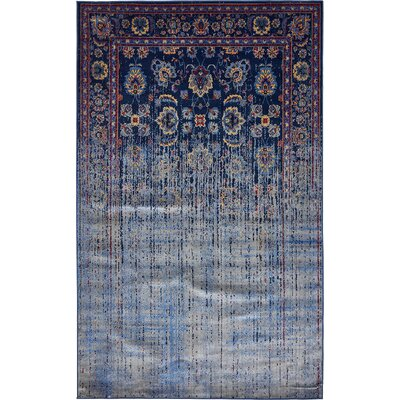 Florence Navy Blue/Gray Area Rug Rug Size: Rectangle 10 x 13