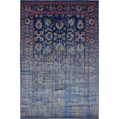Florence Navy Blue/Gray Area Rug Rug Size: 9 x 12