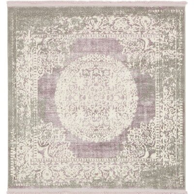 Bryant Green/Ivory Area Rug Rug Size: Square 4