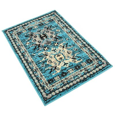 Sina Turquoise Area Rug Rug Size: Rectangle 22 x 3