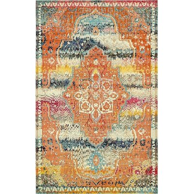 Newton Orange Area Rug Rug Size: Rectangle 106 x 165