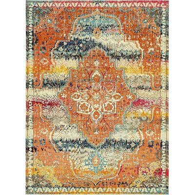 Newton Orange Area Rug Rug Size: 9 x 12