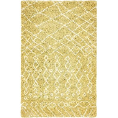 Bourne  Yellow Area Rug Rug Size: 5 x 8