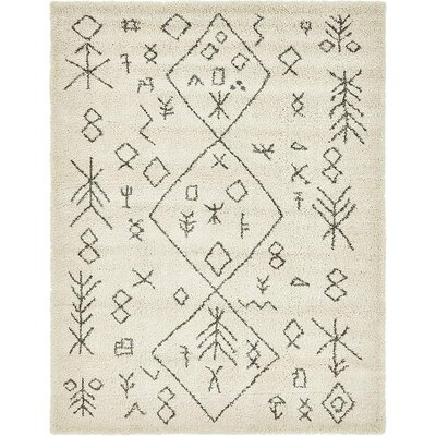 France Pure Ivory Area Rug Rug Size: Rectangle 9 x 12