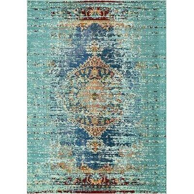 Glenn Blue Area Rug Rug Size: 9 x 12