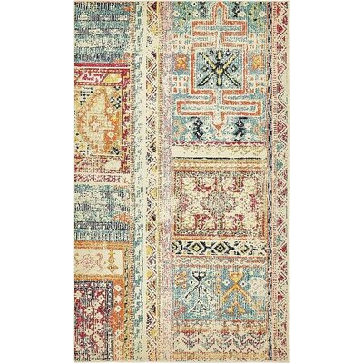 Boxborough Beige Area Rug Rug Size: 5' x 8'