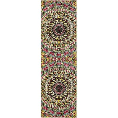 Boston  Yellow Area Rug Rug Size: Runner 2 x 67