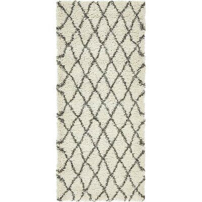 Cynthiana  Pure Ivory Area Rug Rug Size: Rectangle 4 x 6