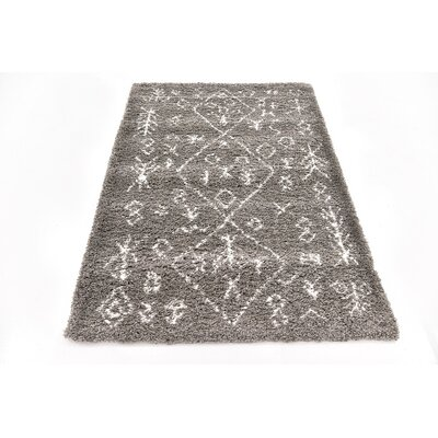 France Machine woven Gray Area Rug Rug Size: 4 x 6