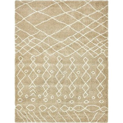 Bourne Machine woven Taupe Area Rug Rug Size: Rectangle 5 x 8