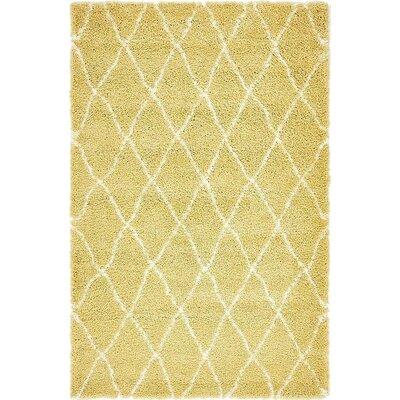 Cynthiana Yellow Area Rug Rug Size: 5 x 8