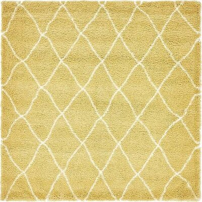 Cynthiana Yellow Area Rug Rug Size: Square 8