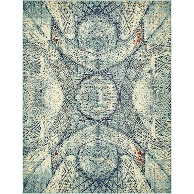 Boston Blue Area Rug Rug Size: 8 x 10
