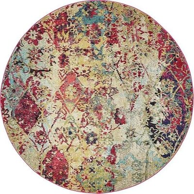 Gloucester Beige Area Rug Rug Size: Round 8