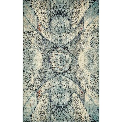 Newton Stain Resistant Blue Area Rug Rug Size: 106 x 165
