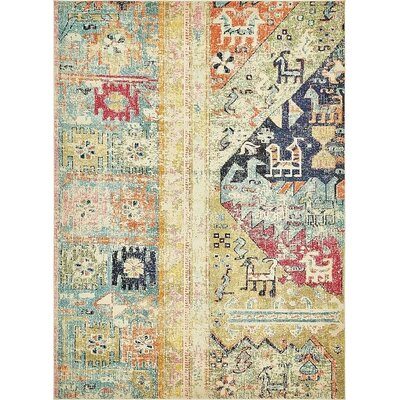Boxborough  Gold  Area Rug Rug Size: 9 x 12