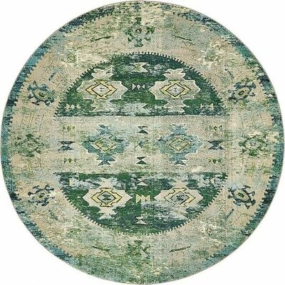 Gloucester Green Area Rug Rug Size: Round 8