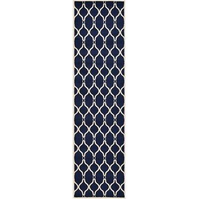 Millvale Navy Blue Area Rug Rug Size: Runner 2'7