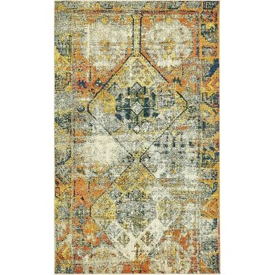 Gloucester Southwestern Beige Area Rug Rug Size: Rectangle 5 x 8