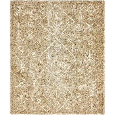 Bourne Machine woven Taupe Area Rug Rug Size: 8 x 10