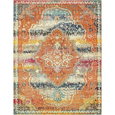 Newton Orange Area Rug Rug Size: 8 x 10