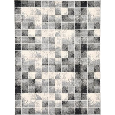 Jaina Light Gray Geometric Area Rug Rug Size: 9 x 12