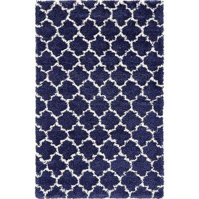 Cynthiana  Navy Blue Area Rug Rug Size: 5 x 8