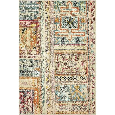 Boxborough Beige Area Rug Rug Size: 4' x 6'