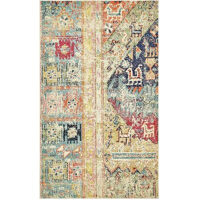 Boxborough  Gold  Area Rug Rug Size: 5' x 8'