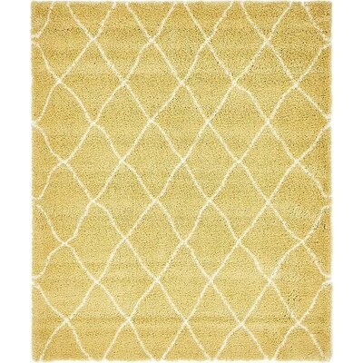 Cynthiana Yellow Area Rug Rug Size: Rectangle 8 x 10