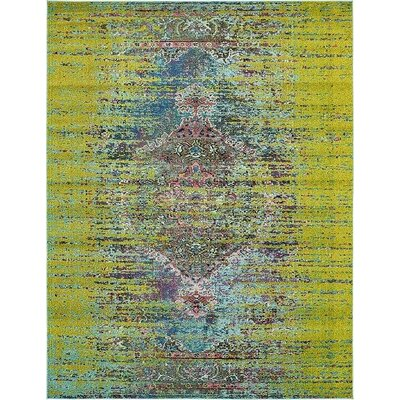 Glenn Machine woven Green Area Rug Rug Size: 8 x 10