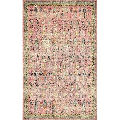 Gloucester Pink Area Rug Rug Size: Rectangle 4 x 6