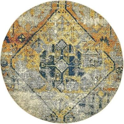 Boxborough  Beige Area Rug Rug Size: Round 8