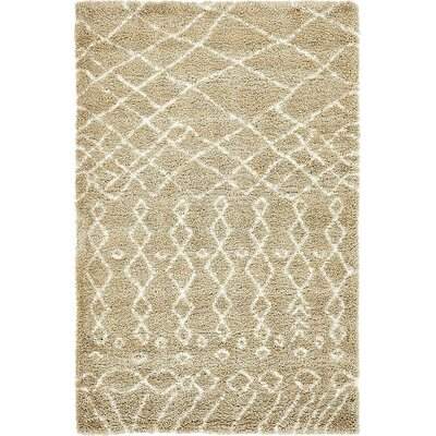 Bourne Machine woven Taupe Area Rug Rug Size: 5 x 8