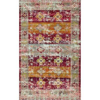 Gloucester Southwestern Pink Area Rug Rug Size: Rectangle 4 x 6