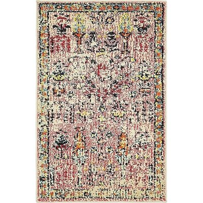 Boxborough Pink Area Rug Rug Size: 2 x 3