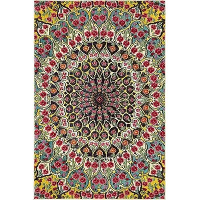 Boston  Yellow Area Rug Rug Size: 4 x 6