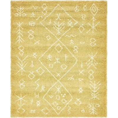 France Machine woven Yellow Area Rug Rug Size: 8 x 10