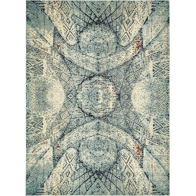 Newton Stain Resistant Blue Area Rug Rug Size: Rectangle 9 x 12