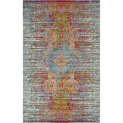 Newton Tibetan Blue Area Rug Rug Size: Rectangle 106 x 165