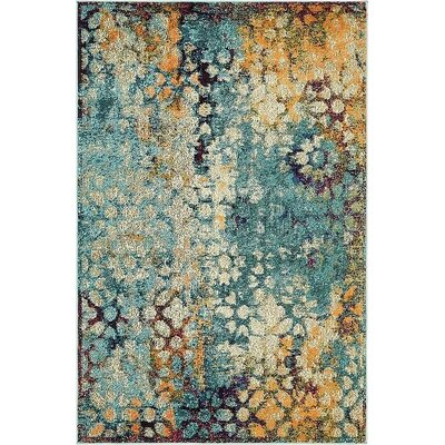 Newton Blue Area Rug Rug Size: Rectangle 4 x 6