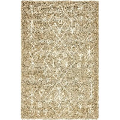 France Machine woven Taupe Area Rug Rug Size: 5 x 8